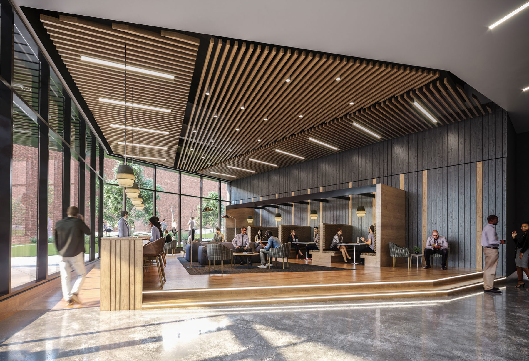 Lobby & Coworking Space at The Roxboro